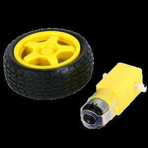RPM Motor Ve Tekerlek Seti