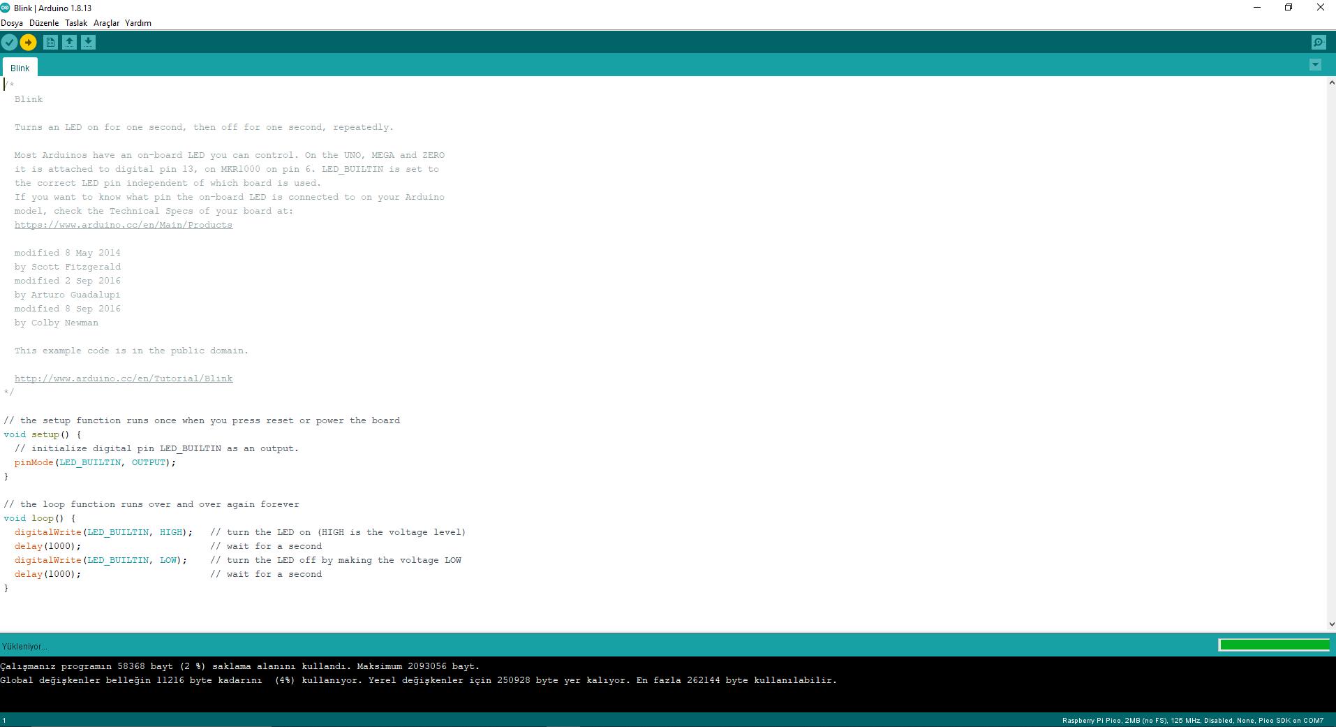Raspberry Pico Arduino IDE 2